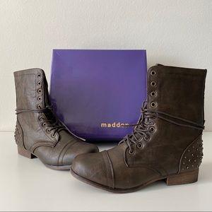 NIB Madden Girl Gallyyy Lace Up Combat Boots